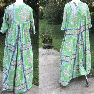Vintage Caftan Maxi Dress